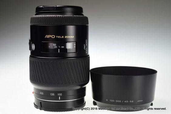 MINOLTA AF APO TELE ZOOM 100-300mm f/4.5-5.6 Excellent+ #Minolta