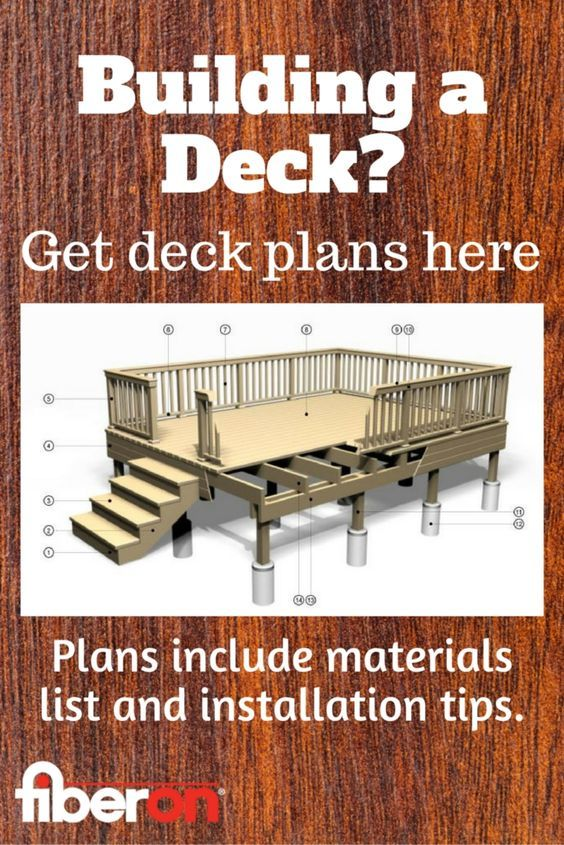 Choose From A Variety Of Deck Styles And Sizes Get Free Plans To Help You Get Started Building A Deck Home Projects Deck Design