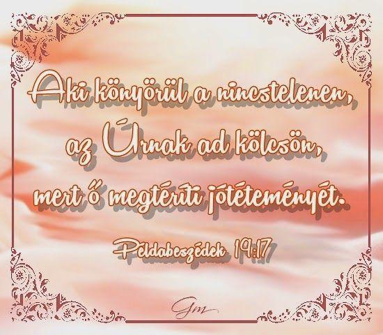 Aki könyörül a nincstelenen...