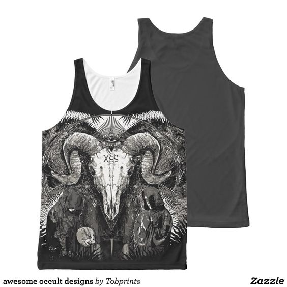 awesome occult designs All-Over print tank top Tank Tops