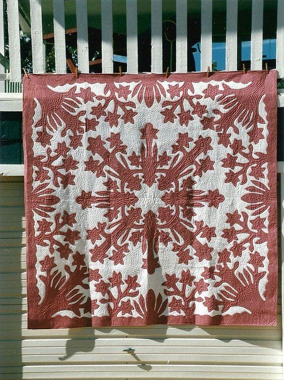 PUA MELIA -- plumeria pattern: Cut Quilts, Hawaian Quilts, Appliqué Hawaiian, Iana Quilted, Hawaiian Style, Hawaiian Quilts, Quilting Hawaiian Applique, Quilts Hawaiian