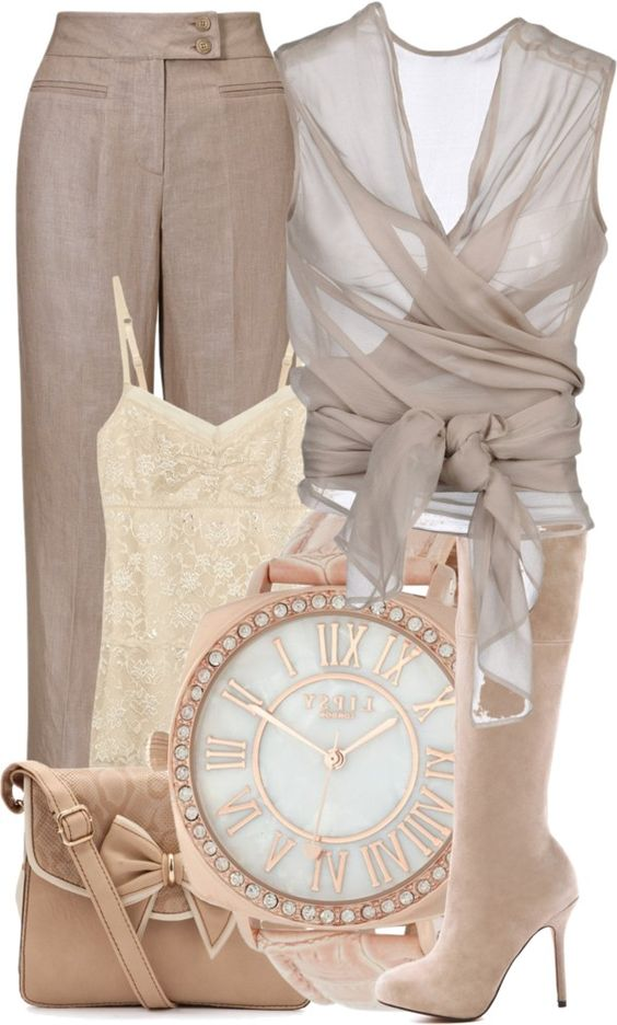 all neutrals outfit work well for a soft summer or a soft autumn
