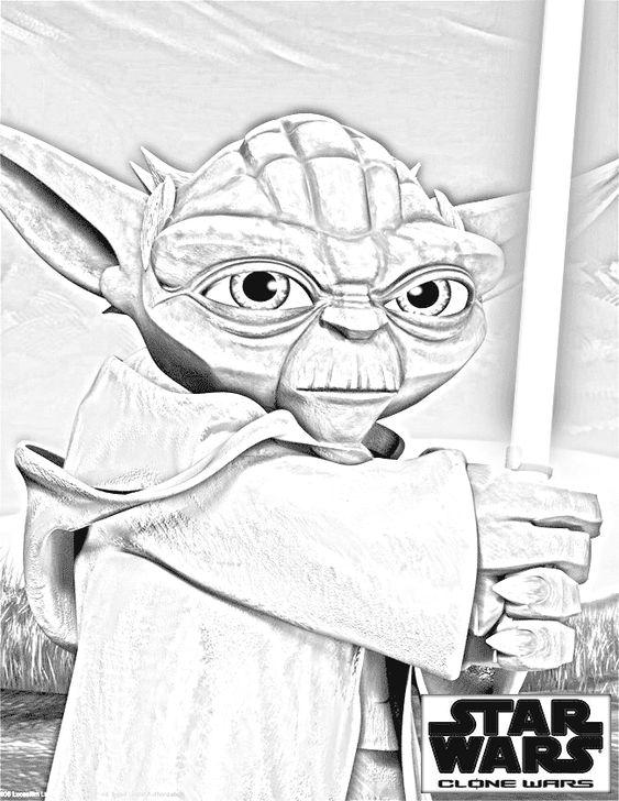 yoda head coloring pages - photo#31