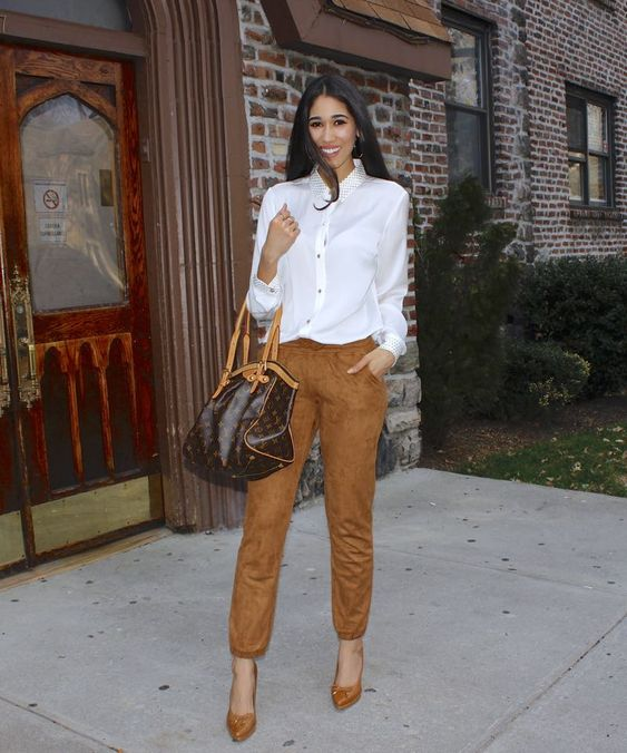 Sartorial in Suede - The Style Contour | spring 2016 trends suede brown suede jogger pants ...