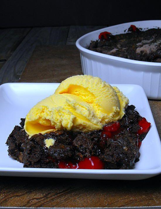 Cherry Chocolate Dump Cake | TheBestDessertRecipes.com
