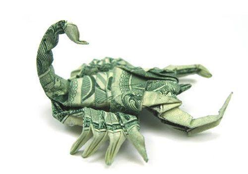 Origami money: