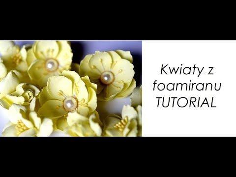 Foamiran Flowers Tutorial Kwiaty Z Foamiranu Youtube