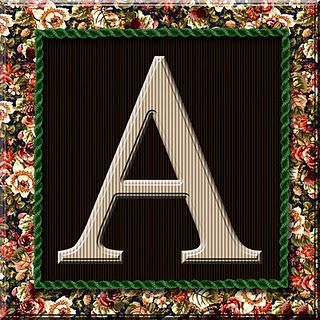 I have the whole alphabet and scrapbook papers to go with it on this blog post.