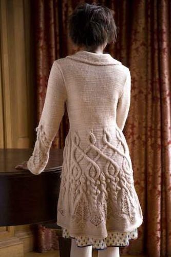 Cabled coat: