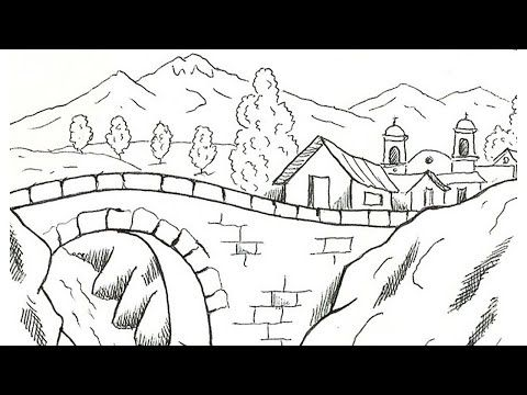 Cara Mewarnai Pemandangan Gunung Dan Rumah Coloring Mountain View And Houses Youtube Pemandangan Gambar Warna