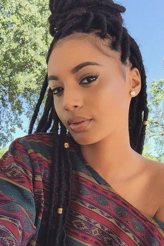 Incredible Double French Braids Afro And Hair On Pinterest Hairstyles For Women Draintrainus