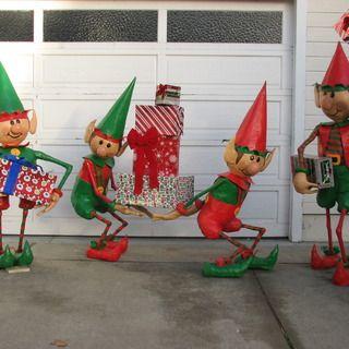 Santa S Elves Yard Display Christmas Yard Decorations Yards And