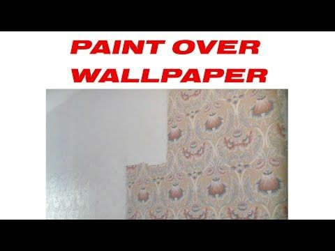 How To Paint Over Wallpaper Zinsser Wallpaper Cover Up Diy