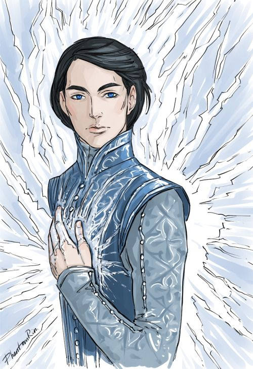 Dorian fan-art by the super-talented PhantomRin! http://phantomrin.tumblr.com/post/138468294075/ice-prince-dorian-throne-of-glass-by-sarah