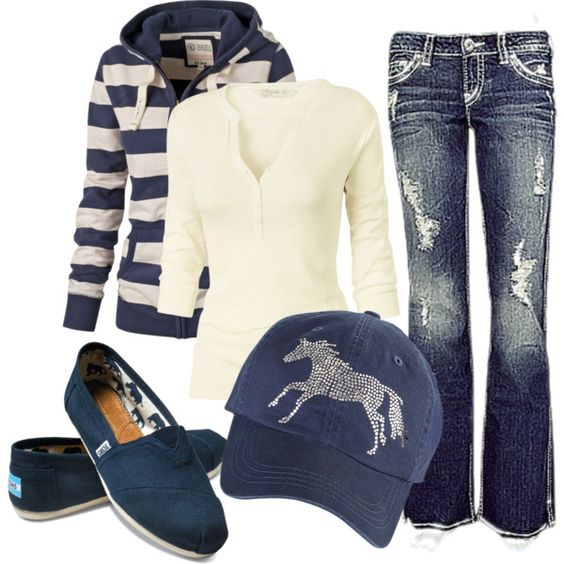 Outfit - love with non ripped jeans and a plain navy hat or no hat.