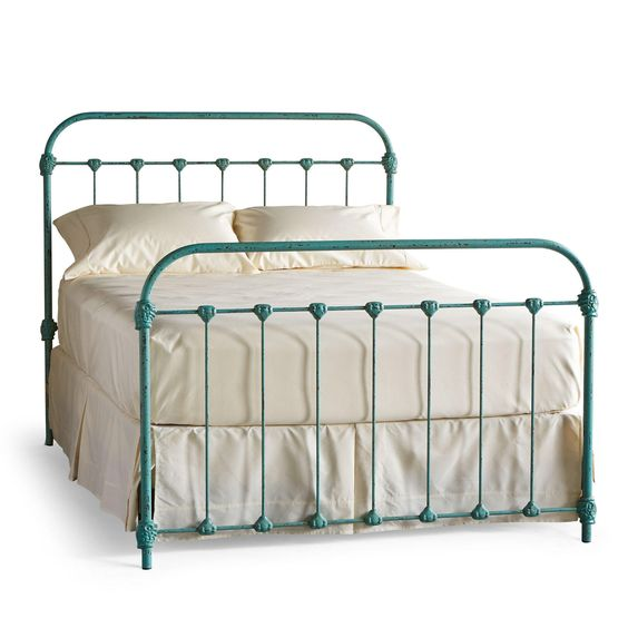 Sky awesome beds and turquoise on pinterest for Turquoise bed frame