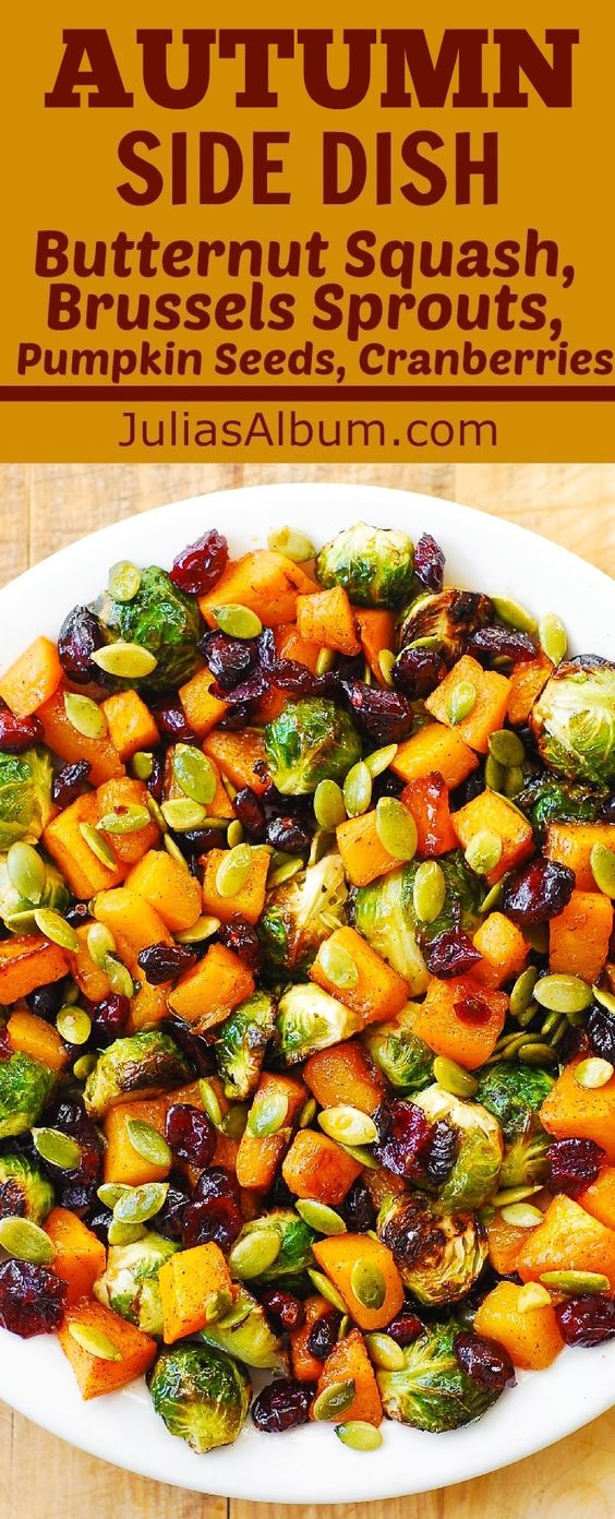 Maple Butternut Squash, Roasted Brussels Sprouts, Pumpkin Seeds, and ...