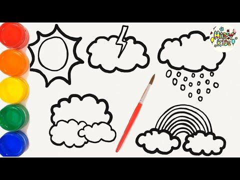 Coloring Weathers For Kids Happy Kids Coloring Youtube Weather For Kids Happy Kids Coloring For Kids