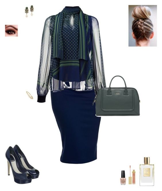 """""""Office look"""" by mignjor on Polyvore featuring Sacai, Christian Dior, Alcozer & J, Kate Spade, AERIN and OPI"""