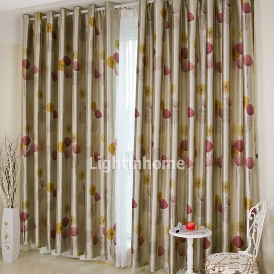 Blackout Curtains blackout curtains cheap : Cheap Country Style Poly and Cotton Champagne Bedroom Blackout ...