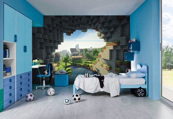 Minecraft Wall Murals by Inkyourwall on Etsy