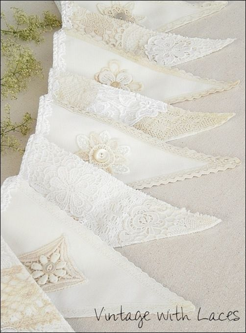 Lace Bunting by Vintage with Laces: