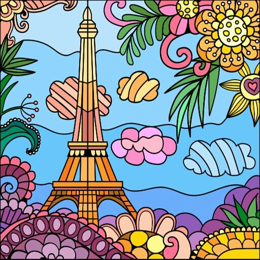 From Paint By Numbers Google App Coloring Book Art Relaxing Coloring Book Happy Colors