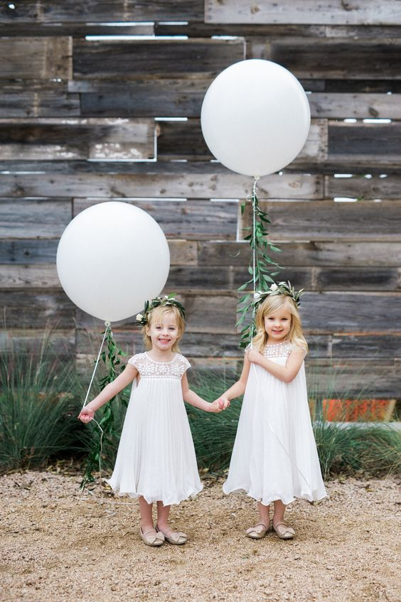 BRIK Venue | Fort Worth | Texas | Event Venue | Wedding Venue | Industrial | Warehouse | Historic | Brick Walls | Wood Floors | Shannon Skloss Photography | Flower Girls | Flower Crown | balloons | Olive Branches | Garland | greenery | courtyard | Wood Wall