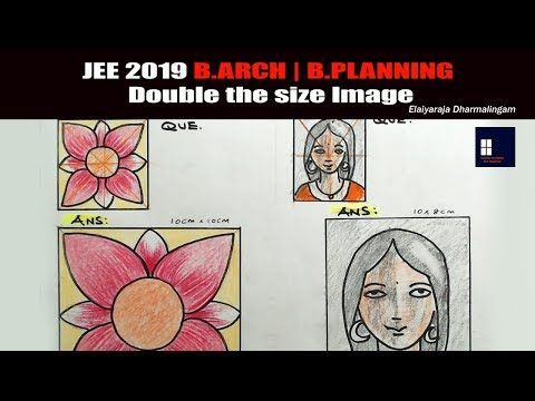 Jee 2019 B Arch B Planning Drawing Question Answer Mock Test Youtube This Or That Questions Elementary Art Projects Drawings