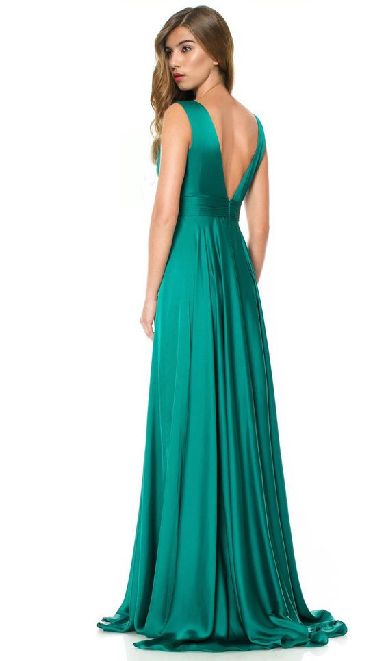 235 emerald green gown