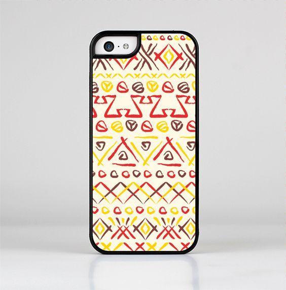 The Hand-Painted Vintage Aztek Pattern Skin-Sert for the Apple iPhone 5c Skin-Sert Case