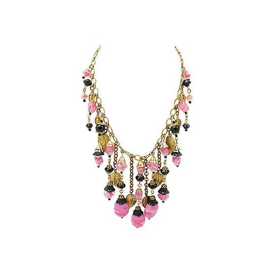 Pre-Owned Miriam Haskell Leaves Necklace ($699) ❤ liked on Polyvore featuring jewelry, necklaces, leaf necklace, leaves necklace, leaf jewelry, pre owned jewelry and leaves jewelry