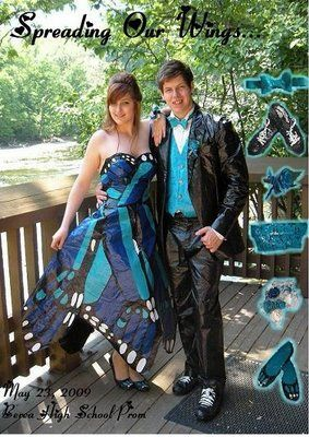 :O ok..i really like this DUCT TAPE dress! its butterfly print!