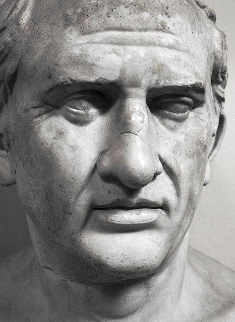 Roman marble bust of Marcus Tullius Cicero, born 106 BCE, Arpinum, Latium [now Arpino, Italy].