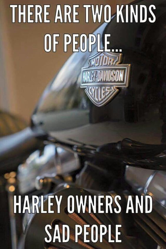 Sorry sad people. Well, I don't know about that! There is 'something' about a Harley though!