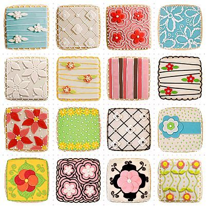 IDEA! Have kids decorate sugar cookies with different mark making- ex: cross hatching, different symmetry, patterns, thick and thin lines, chiaroscuro, et.: Pretty Cookies, Cookies Pretty, Cookie Design, Decorated Cookies, Beautiful Cookies, Cookies Decorated, Patterned Cookies, Sugar Cookie