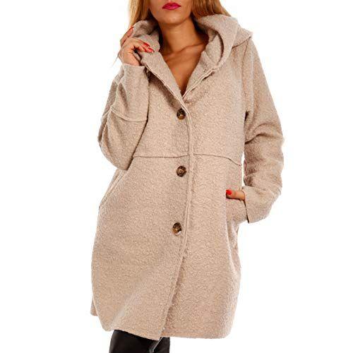 Oversized Mantel Mit Winter Jacke Herbst Schalkapuze Damen iuOTwZPkX