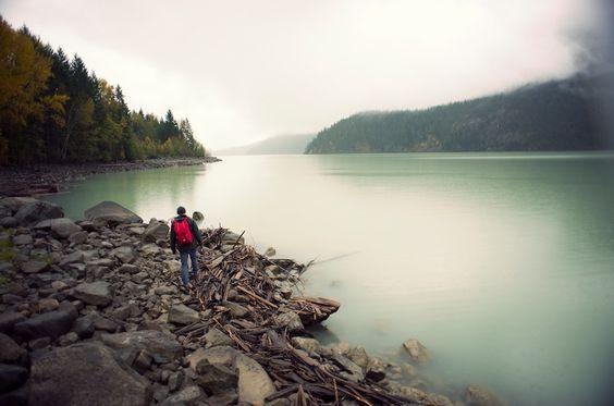 Walk along the shore. #HerschelSupply #Fall