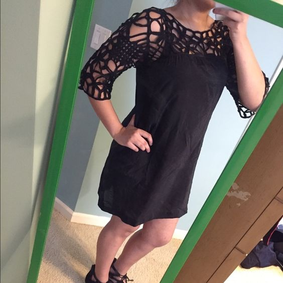 My black dress is see through