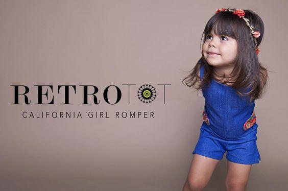 OOAK vintage inspired Children's Clothing. Flower Romper.