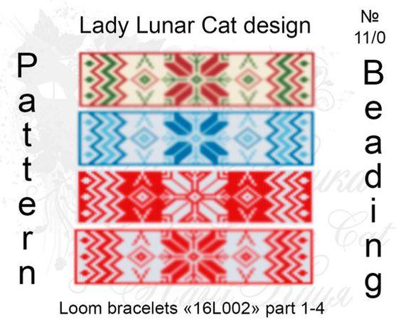 #LadyLunarCat #loom #pattern Pattern scheme  loom  for  beaded bracelets by ART LadyLunarCat