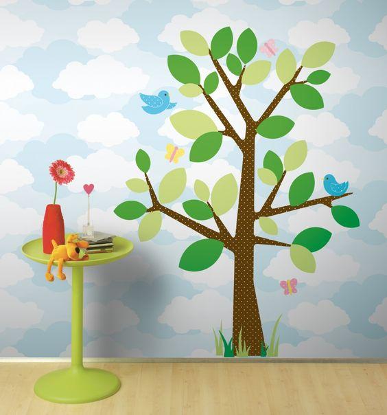 Dotted Tree: Roommates Tree, Kids Room, Roommates Decals, Roommates Dotted, Roommates Projectnursery, Wall Decal, Nursery S Roommates