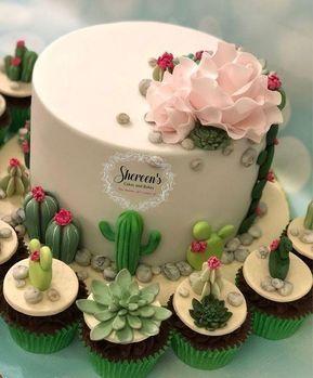 Torta de cactus de mujer