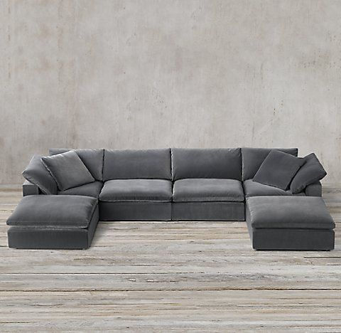 Rh S Cloud Modular Sofas With Images Modular Sofa Sectional Low Couch