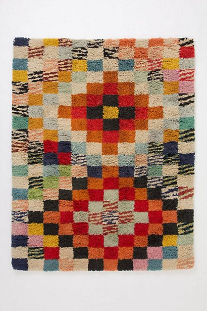 Colorblocked Abstraction Rug #anthropologie