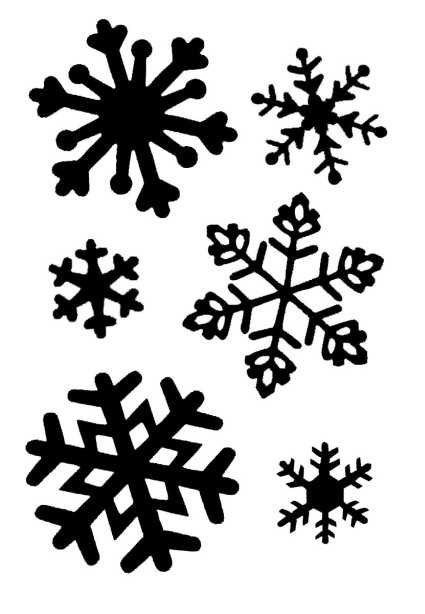 Simple Snowflake Line Art : Large snowflakes clear stamp transzfer pinterest