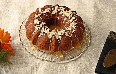 Versatile Vegetarian Kitchen: Eggless Almond Date Cake