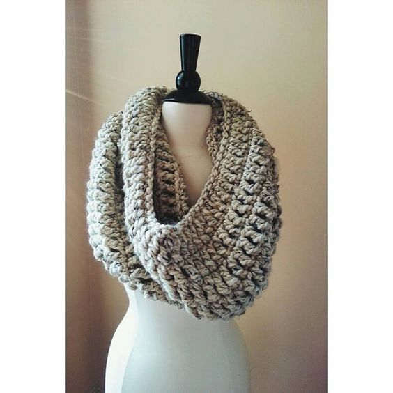 .made from a super soft blend of wool and acrylic.  .fashionable cowl, that will go with any outfit.    can be made in a variety of colors.  Beautiful scarf!