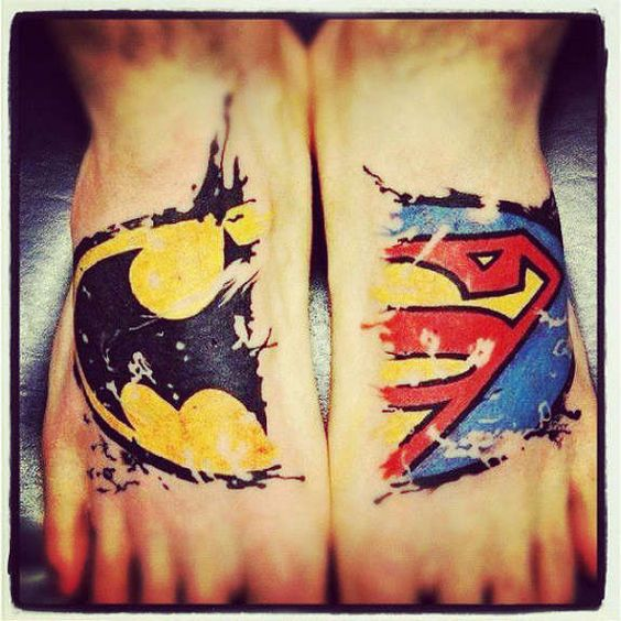 #21 Tattoos do Batman e Superman | para você curtir o novo filme! - Tattoo Finder
