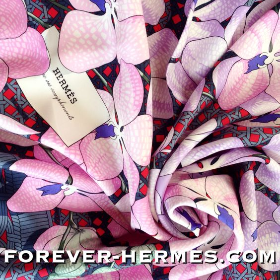 Orchid Flower Hermes scarf in store http://forever-hermes.com #ForeverHermes titled Souvenirs D'Asie by Dimitri Rybaltchenko with a gorgeous array of #OrchidFlowers as #Souvenir from #Asia #Japan #Thailand exotic style. For #womenswear #womensfashion #WallDecor #mensfashion #mensnecktie #MensSuit #instastyle #instafashion #dapper #HermesCarre #hermesParis #hermesscarf #hermesaddict